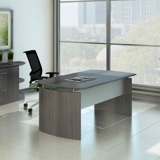 "Mayline Medina 72""W x 36""D Desk with Curved End Panels"