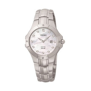 Seiko Women's SUT125 Solar Diamond Accent Watch
