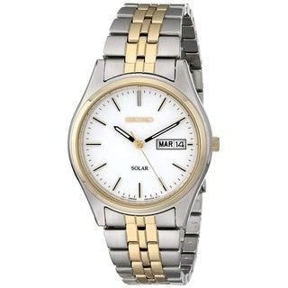 Seiko Men's SNE032 'Solar' Two-Tone Stainless Steel Watch