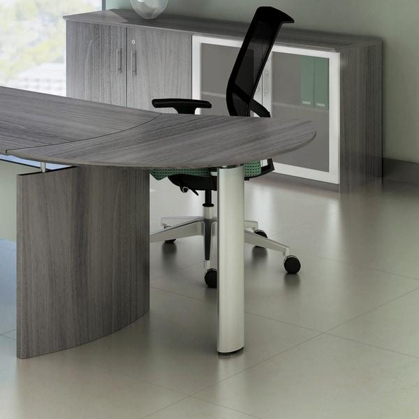Mayline Medina Left Curved Desk Extension Free Shipping
