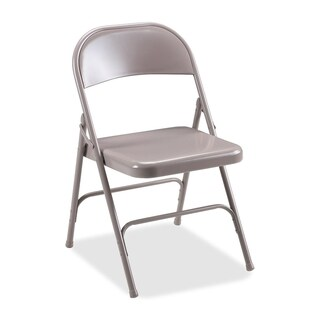 Lorell Beige Steel Folding Chairs (Pack of 4)