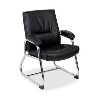 Lorell Bridgemill Black Leather Guest Chair|https://ak1.ostkcdn.com/images/products/9231526/P16398891.jpg?_ostk_perf_=percv&impolicy=medium