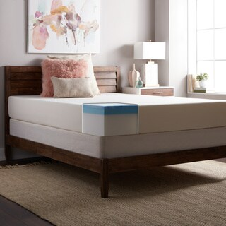 SL Loft Medium Firm 10-inch Queen-size Gel Memory Foam Mattress - White