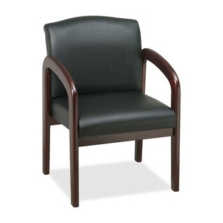 Lorell Deluxe Mahogany Guest Chair