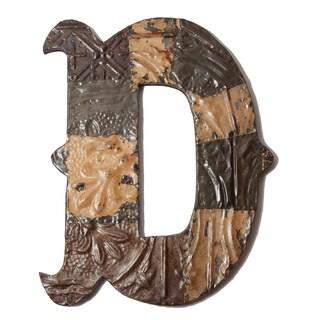 Ozark Folk Art Reclaimed Tin Letter D