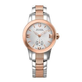 Bulova Accutron Women's 65L104 Swiss-made Two-tone Stainless Steel Watch|https://ak1.ostkcdn.com/images/products/9231551/P16398893.jpg?impolicy=medium