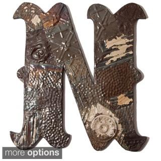 Ozark Folk Art Reclaimed Tin Letter N