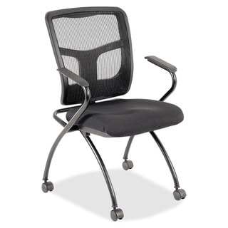 Lorell Mesh Back Fabric Seat Nesting Chair
