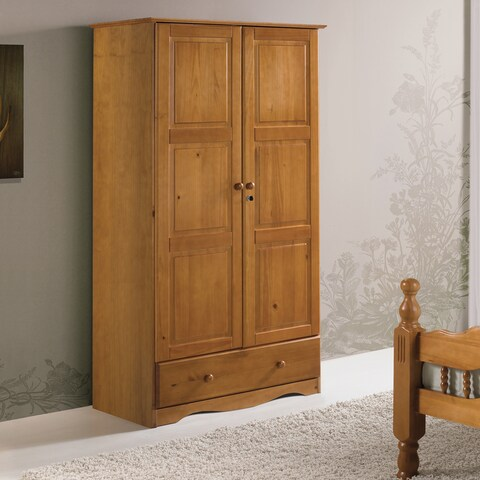 Gracewood Hollow Siddartha Universal Solid Wood Customizable Wardrobe