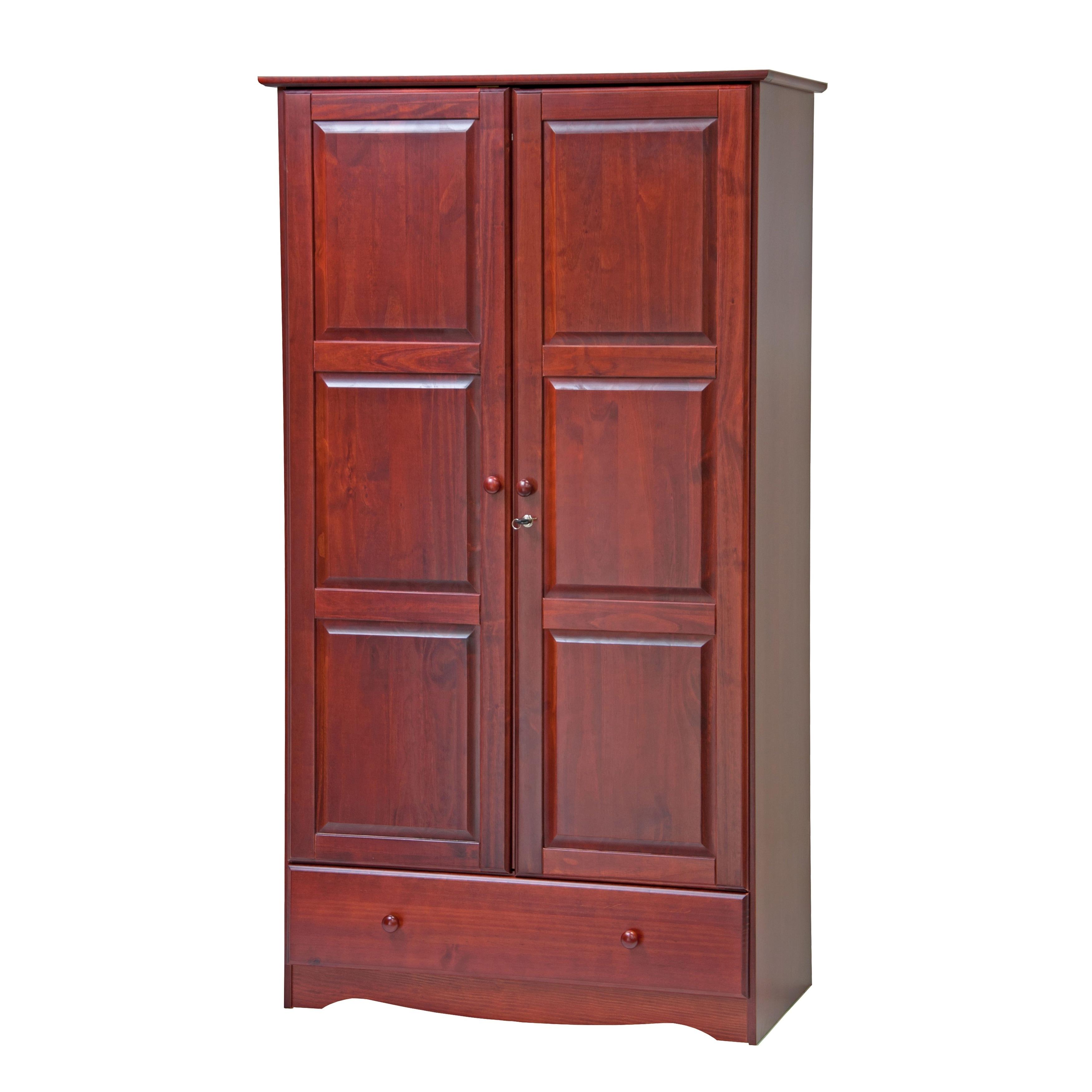 Palace Imports Universal Solid Wood Customizable Wardrobe...