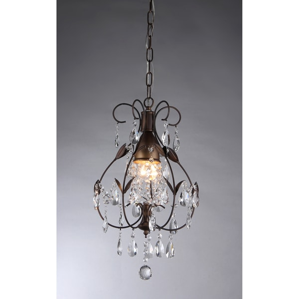 Maleficent 1-light Chandelier Antique Bronze and Crystals - Free ...