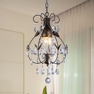 Maleficent 1-light Chandelier Antique Bronze and Crystals