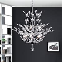 Warehouse of Tiffany Anastasia Leaf Chrome Iron/Crystal Chandelier