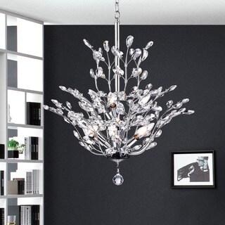 Warehouse of Tiffany Anastasia Leaf Chrome Iron/Crystal Chandelier