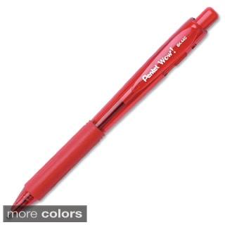 Pentel WOW! Medium Tip Ballpoint Pens (Pack of 12)