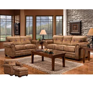 living room furniture groups. Wild Horses Lodge 4 piece Group with Sofa Sleeper Rustic Living Room Furniture Sets For Less  Overstock com