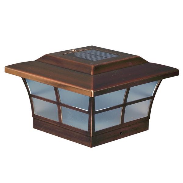 6x6 Copper Plated Prestige Solar Post Cap Set Of 2