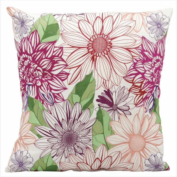 Mina Victory Indoor/Outdoor Fantasy Multicolor Throw Pillow (18-inch x 18-inch) by Nourison