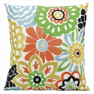 Mina Victory Indoor/Outdoor Flower Multicolor Throw Pillow (18-inch x 18-inch) by Nourison