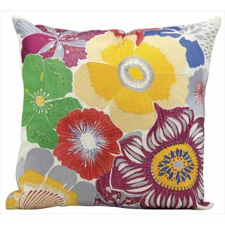 Mina Victory Indoor/Outdoor Wild Flowers Multicolor Throw Pillow (18-inch x 18-inch) by Nourison