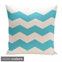 26 x 26-inch Two-tone Chevron Print Decorative Throw Pillow