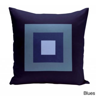 16 x 16-inch Multi-square Print Geometric Decorative Throw Pillow