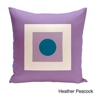18 x 18-inch Square/ Dot Print Geometric Decorative Throw Pillow