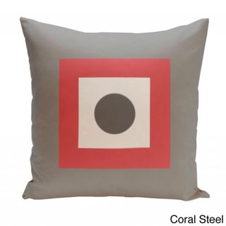 20 x 20-inch Dot/ Square Print Decorative Throw Pillow
