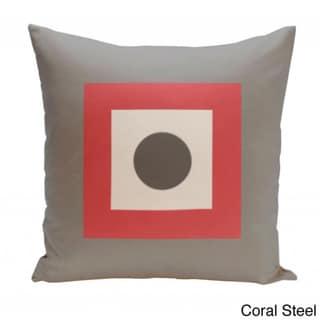 18 x 18-inch Dot/ Square Print Decorative Throw Pillow