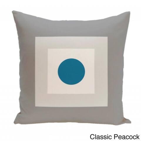 16 x 16-inch Square/ Dot Print Geometric Decorative Throw Pillow