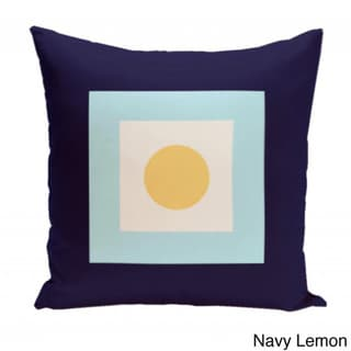 16 x 16-inch Square/ Dot Print Geometric Decorative Throw Pillow