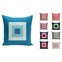 18 x 18-inch Geometric Squares Decorative Throw Pillow