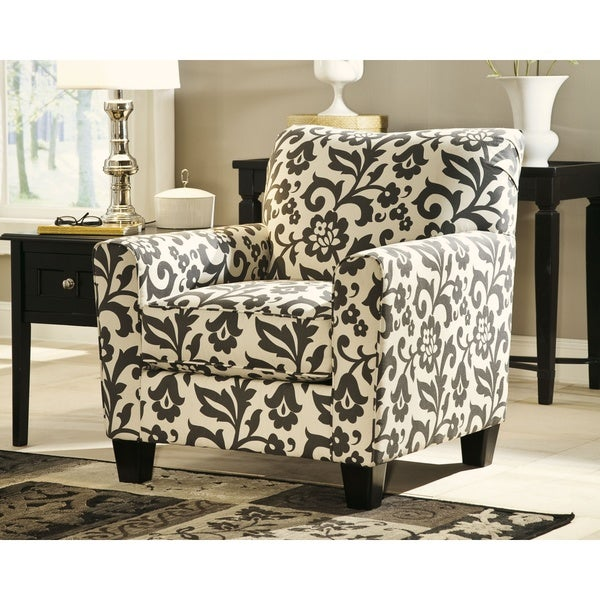 Missoni Style Print Accent Chair: Shop Signature Design By Ashley Levon Charcoal Floral