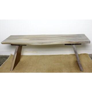 Handmade A Bench 48 x 15 x 18 Inches High Agate Grey Acacia Bench (Thailand)