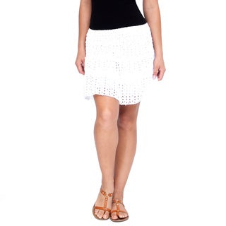 Handmade Women's White Mini Skirt (India)