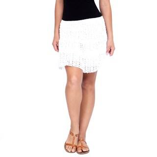 Handmade Women's White Mini Skirt (India)