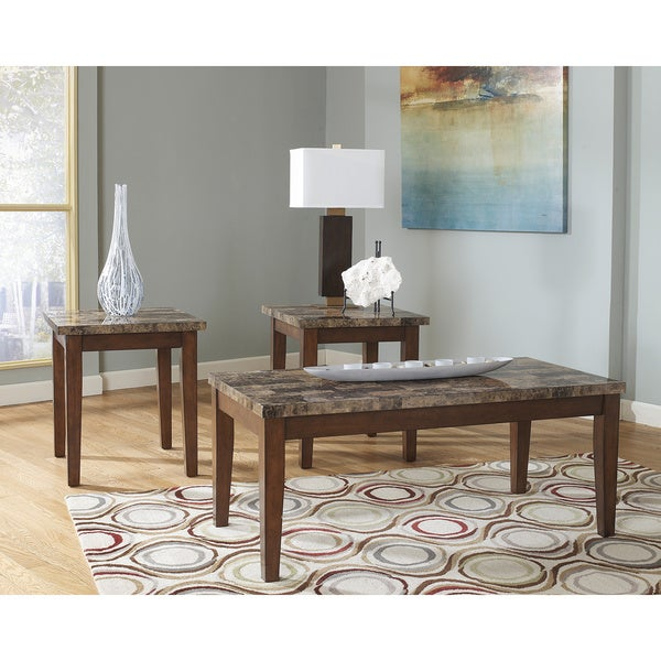 Nice Signature Design By Ashley Theo 3 Piece Occasional Table Set