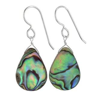 Ashanti Sterling Silver Aurora Mother of Pearl Handmade Earrings (Sri Lanka)