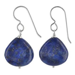Link to Blue Lapis Lazuli Gemstone Silver Handmade Earrings Similar Items in Earrings