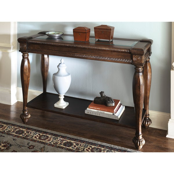 sofa table home goods signature design by ashley mantera vintage sofa table