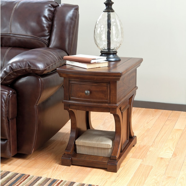 Signature Designs By Ashley Rollins Square End Table: Shop Signature Design By Ashley Devrik Brown Square End