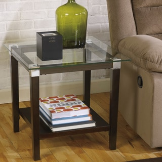 Signature Design by Ashley Vinlenz Brown Square End Table
