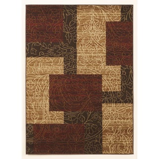 Signature Design by Ashley Rosemont Red Colorblocked Rug (5' x 7')