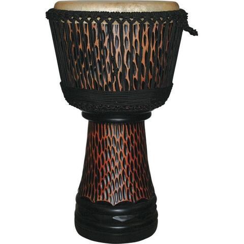 Handmade X8 Drums King Cheetah Elite Pro Carved Djembe Drum (Indonesia)