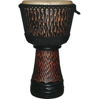 X8 Drums King Cheetah Elite Pro Carved Djembe Drum (Indonesia)