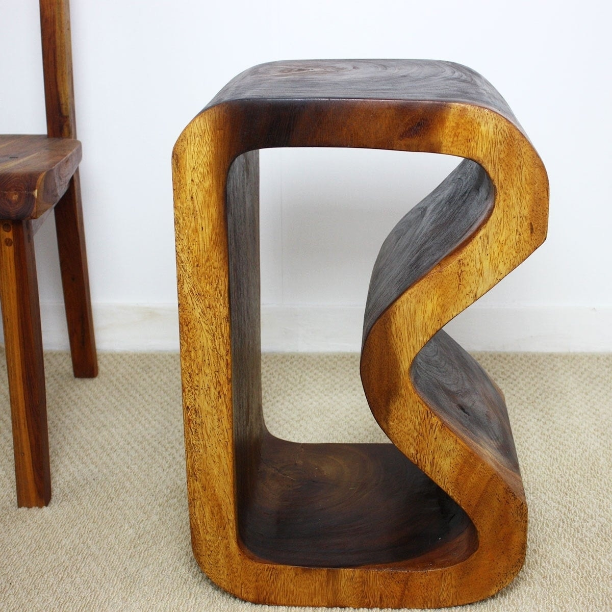 Haussmann Handmade 24 x 13.5 x 15 Walnut Oil Acacia Wood ...