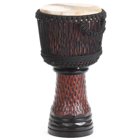 Handmade X8 Drums Cheetah Carved Elite Pro Djembe Drum (Indonesia)