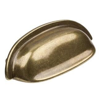 GlideRite 2.5-inch CC Antique Brass Classic Bin Cabinet Pulls (Pack of 10)