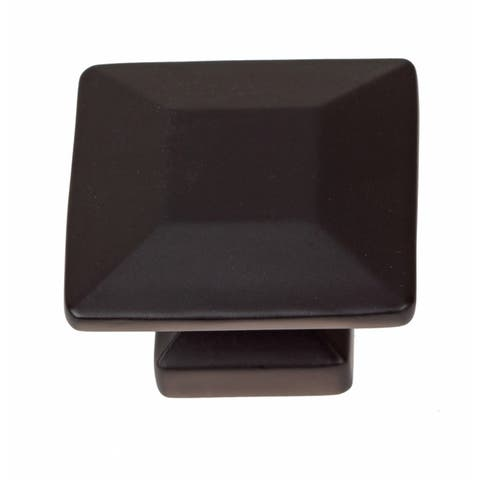 GlideRite 1.375-inch Matte Black Square Cabinet Knobs (Pack of 10)