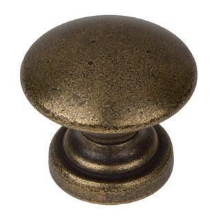 GlideRite 1-inch Antique Brass Round Convex Cabinet Knobs (Pack of 10)